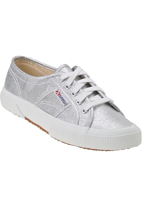 metallic sneakers superga 2750 sneaker silver canvas in metallic lyst