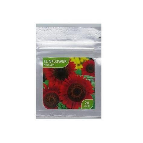 Balon Foil Bunga Matahari benih sunflower sun 20 biji kemasan foil bibitbunga
