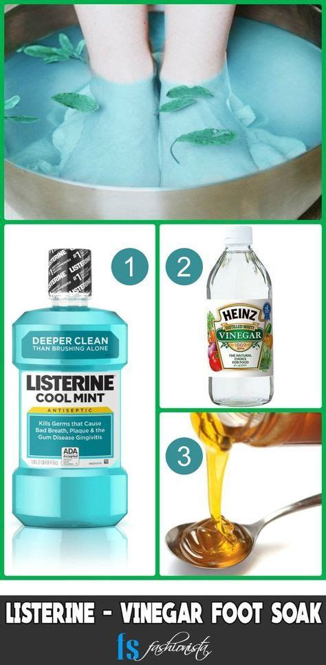 Apple Cider Vinegar Baking Soda Listerine Foot Detox by Best 25 Foot Soak Vinegar Ideas On Foot Scrub