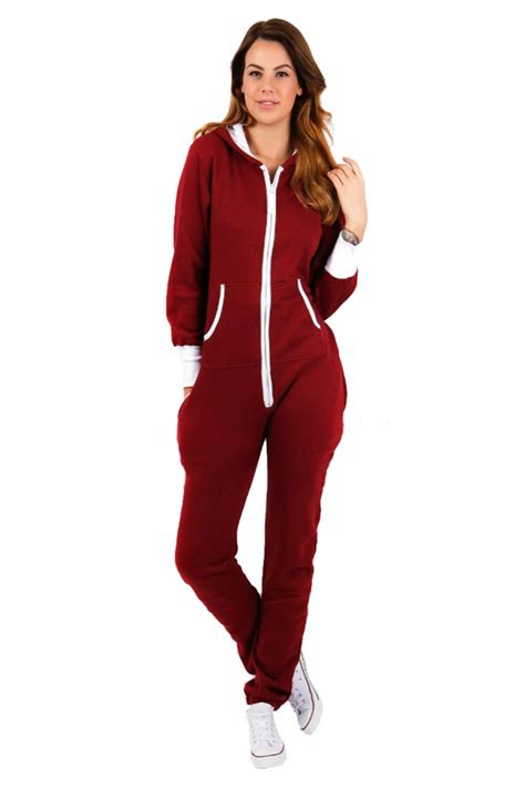 Jumpsuit Playshot new womens all in one onesie hooded zip up jumpsuit playsuit uk tracksuit ebay