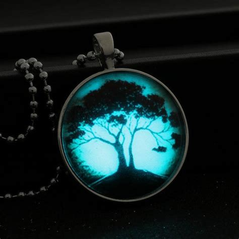 how to make glow in the jewelry tree of glass glowing pendant necklace glow in the