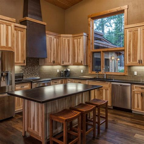 hickory cabinets kitchen hickory kitchen cabinets characteristic materials