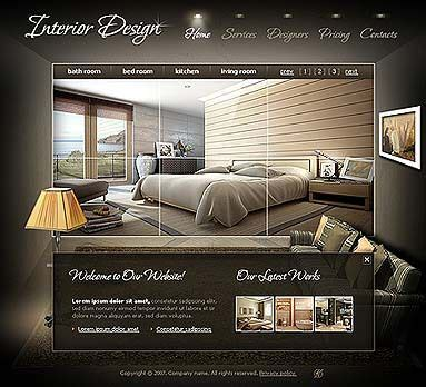 interior design website templates flash template