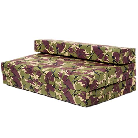 Gaming Futon by Sofa Bed Jungle Camouflage Z Foam Fold Out Futon Gaming Cing Boys Seat Ebay