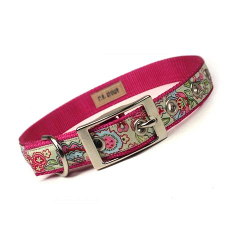 metal buckle collar pink and green jacobean metal buckle collar 3 4 inch on luulla