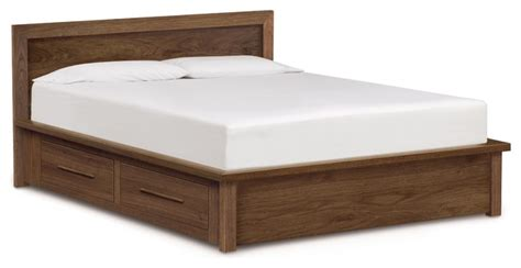 King Platform Bed With Storage Headboard by Copeland Moduluxe Storage Bed With Panel Headboard King Maple