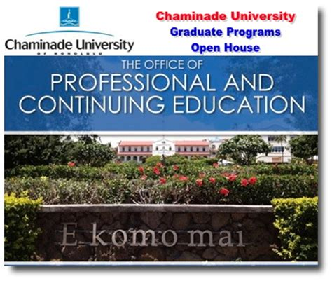 Chaminade Mba by Chaminade Graduate Programs Open House