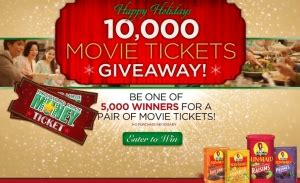 Sun Maid Movie Ticket Giveaway - giveaways contests sweeps part 20