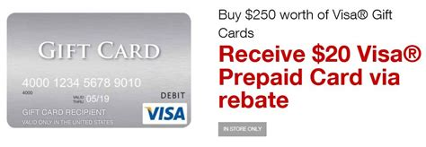 Where Can I Buy A Visa Prepaid Gift Card - deal alert get a 20 prepaid visa card when you buy 250 or more in visa cards