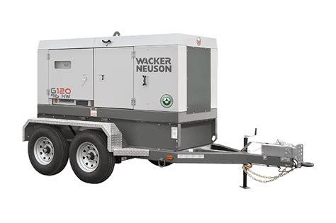 mobile generator wacker neuson g120 mobile generator for reliable power