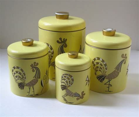 vintage kitchen canister set cottage chic decor