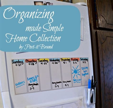 organizing your fridge with the home collection by post it
