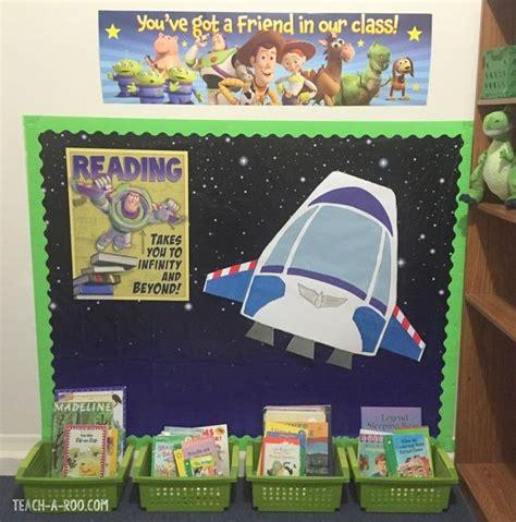 theme board names fun buzz lightyear reading corner you could add stars