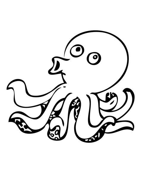 Octopus Outline by Images For Gt Realistic Octopus Outline Cliparts Co