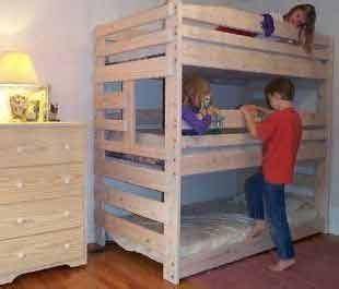bunk bed plans   build  kids  adults loft bed