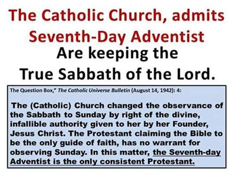 sacred rest finding the sabbath in the everyday books catholic church admits seventh day adventist are keeping