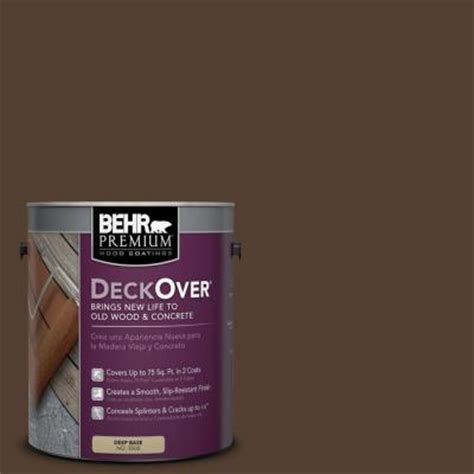 behr premium deckover 1 gal sc 111 wood chip wood and concrete coating 500001 the home depot
