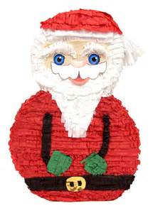 About santa father christmas pinata birthday or party game decoration