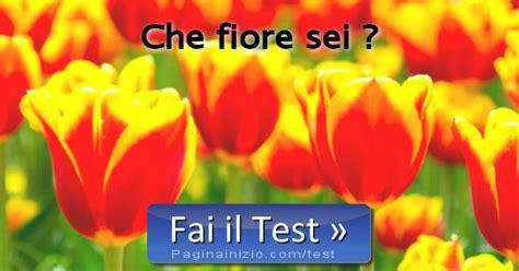 pagina inizio test test fiore sei