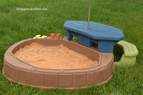 step 2 sandbox with bench 30 staycation ideas