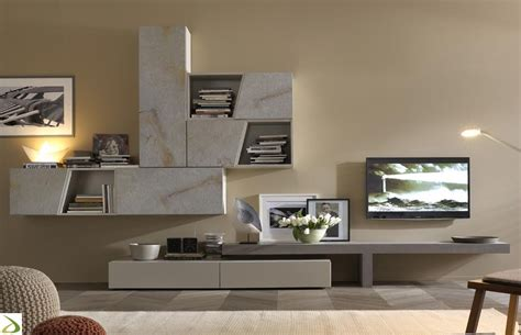 soggiorno design parete attrezzata design in pietra luvex arredo design