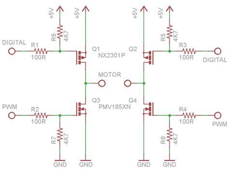 mosfet gate pull up resistor motor mosfet h bridge design electrical engineering stack exchange