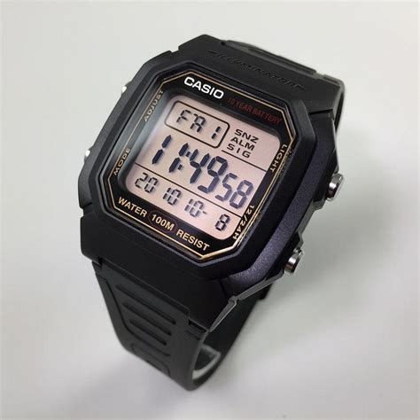 s casio black digital sports w800hg 9av