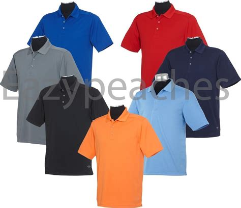 callaway golf mens size s 3xl 4xl polo sport shirt dri fit wicking ebay