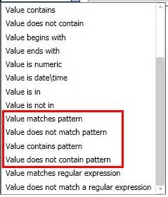 make pattern matching rule pattern matching in dqs domain rules data quality