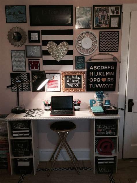 black white desk 25 best ideas about shelves above desk on
