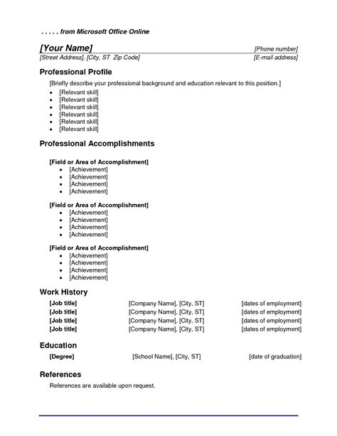 Microsoft Office Word Resume Templates by Microsoft Office Resume Templates Beepmunk