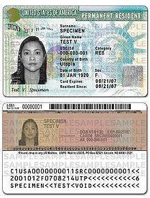 resident green card template auwandern in amerika wer weiss was de