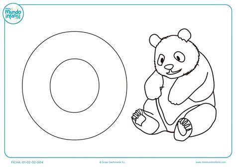 imagenes otoño infantiles para colorear plantilla para colorear la letra o y el dibujo del oso