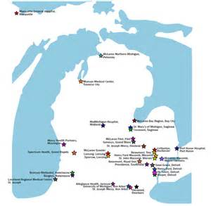 map of hospitals in michigan michigan map