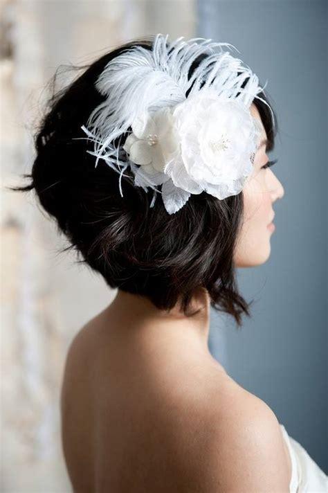Stacked Bob Wedding Hairstyles by 14 Penteados Para Noivas De Cabelos Curtos Casar