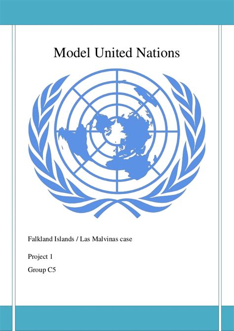 United Nations Nation 8 by Report Model United Nation Falkland Islands Las