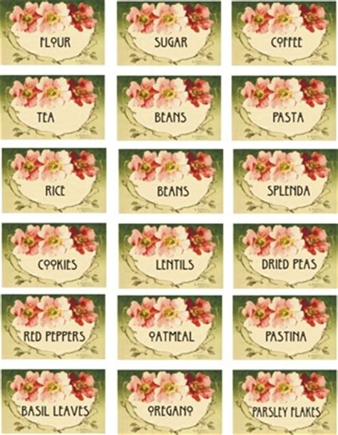 labels for kitchen canisters 332 best miniature printables images on