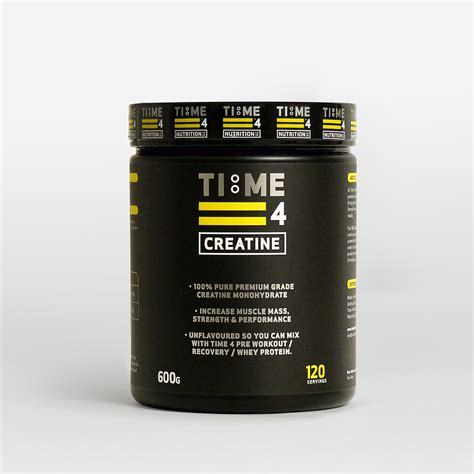 creatine 5g scoop time 4 creatine 600g time4nutrition