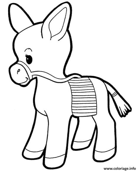 baby donkey coloring page coloriage bebe ane mignion dessin