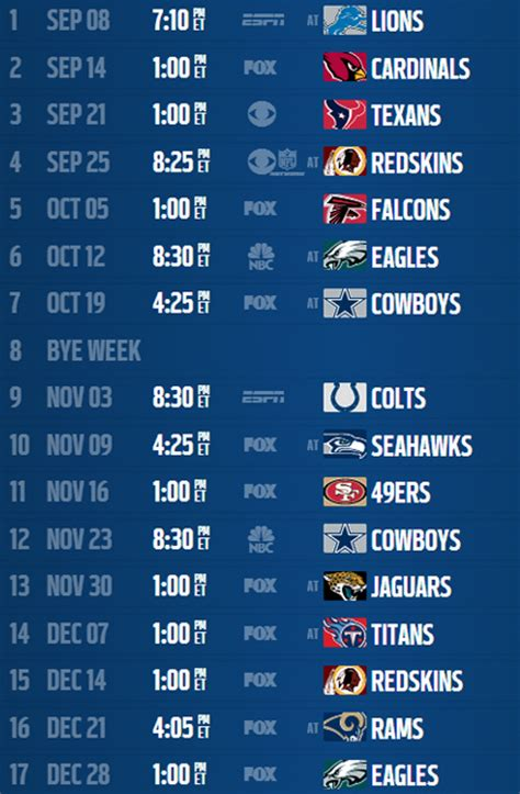 printable nfl giants schedule ny giants printable schedule 2015 calendar template 2016