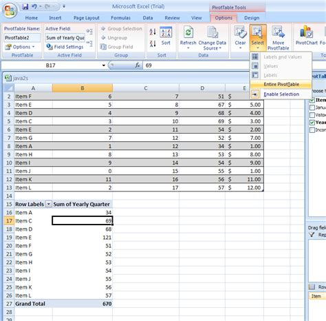 format report pivot table excel 2007 pivottable 171 pivottable pivotchart 171 microsoft office
