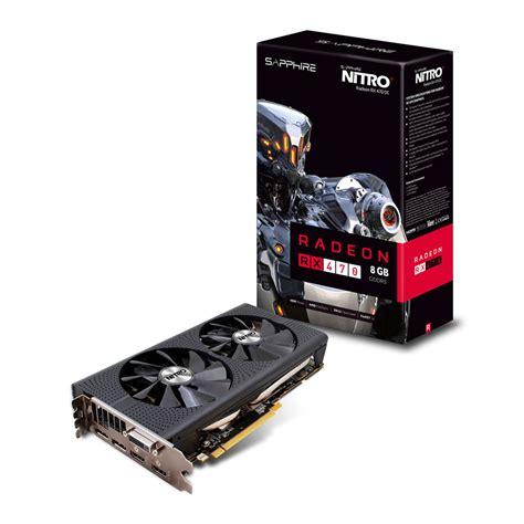 sapphire nitro radeon rx 470 8gb oc sapphire radeon rx 470 nitro 8gb oc edition graphics card