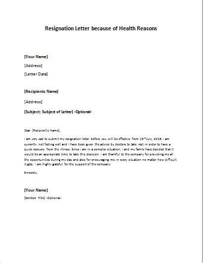 Resignation Letter Health Reasons by Resignation Letter To Take An Early Retirement Writeletter2