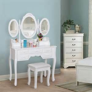 bedroom vanity desk songmics dressing table set vintage bedroom vanity desk with stool mirror rdt ebay