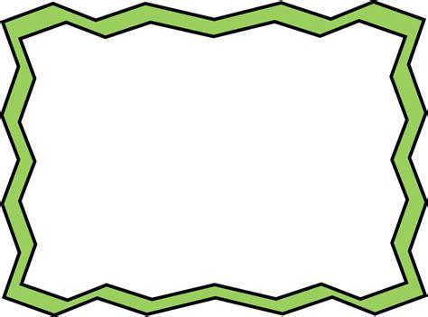 clipart frame green zig zag frame free clip frames