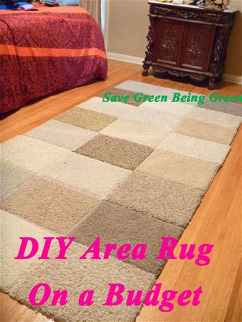 Diy Area Rug Save Green Being Green Thrifty Thursday Diy Area Rug On A Budget