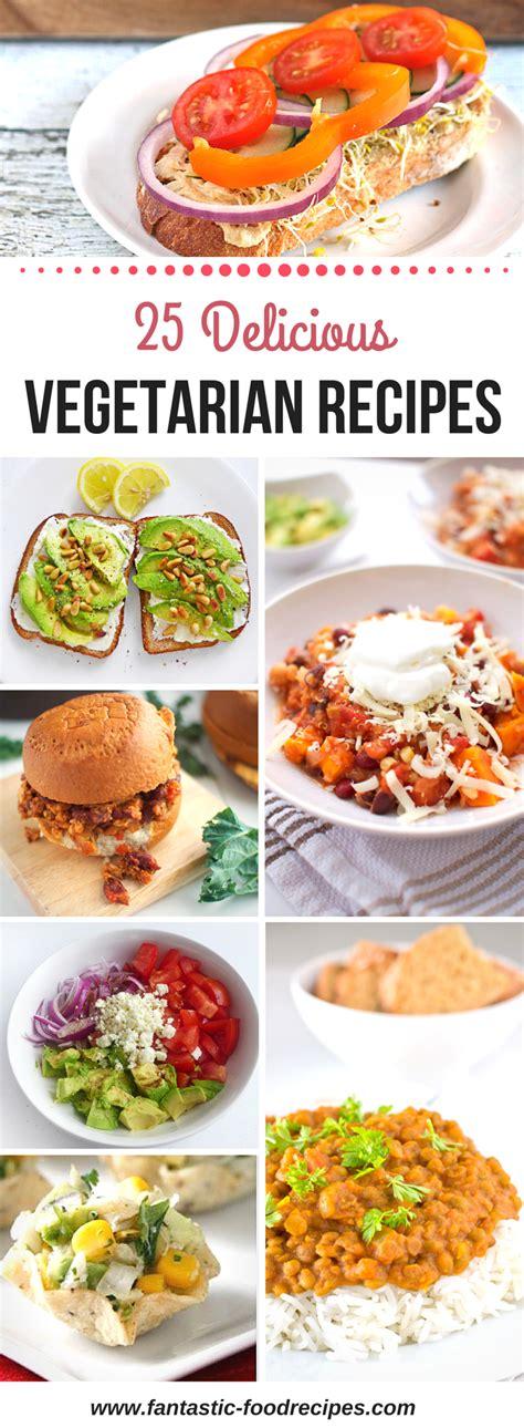 25 delicious vegetarian recipes