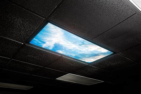Led Skylight W Sun Beams Skylens 174 2x2 Dimmable Led