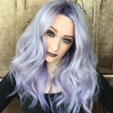 silver blonde root shadow hair ideas pinterest icy silver to violet color design with shadow root by
