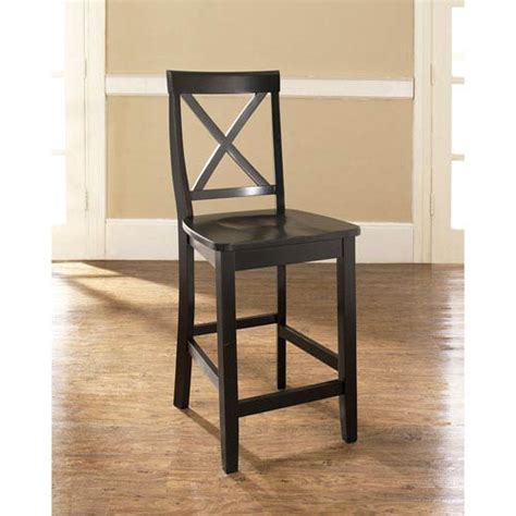 bar stools for the kitchen crosley furniture x back bar stool in black finish with 24